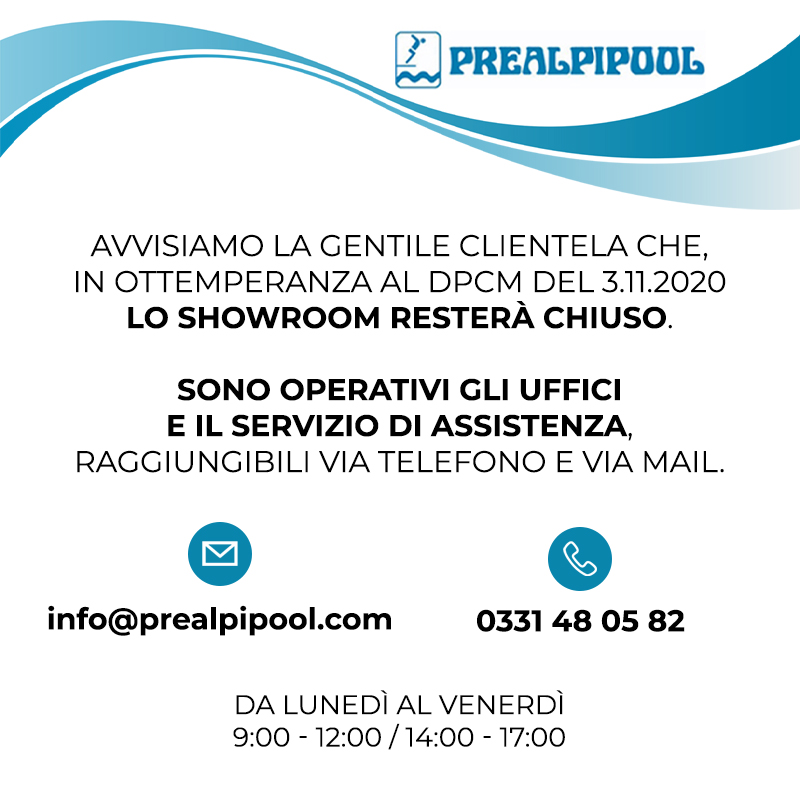 Prealpipool Chiusura Showroom